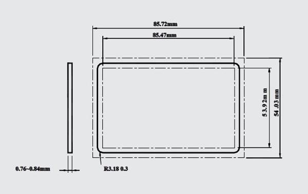 Maße kontaktlose RFID Chipkarte