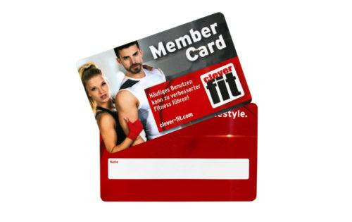 Clever FIT RFID Mitgliedskarte für Fitnessstudios