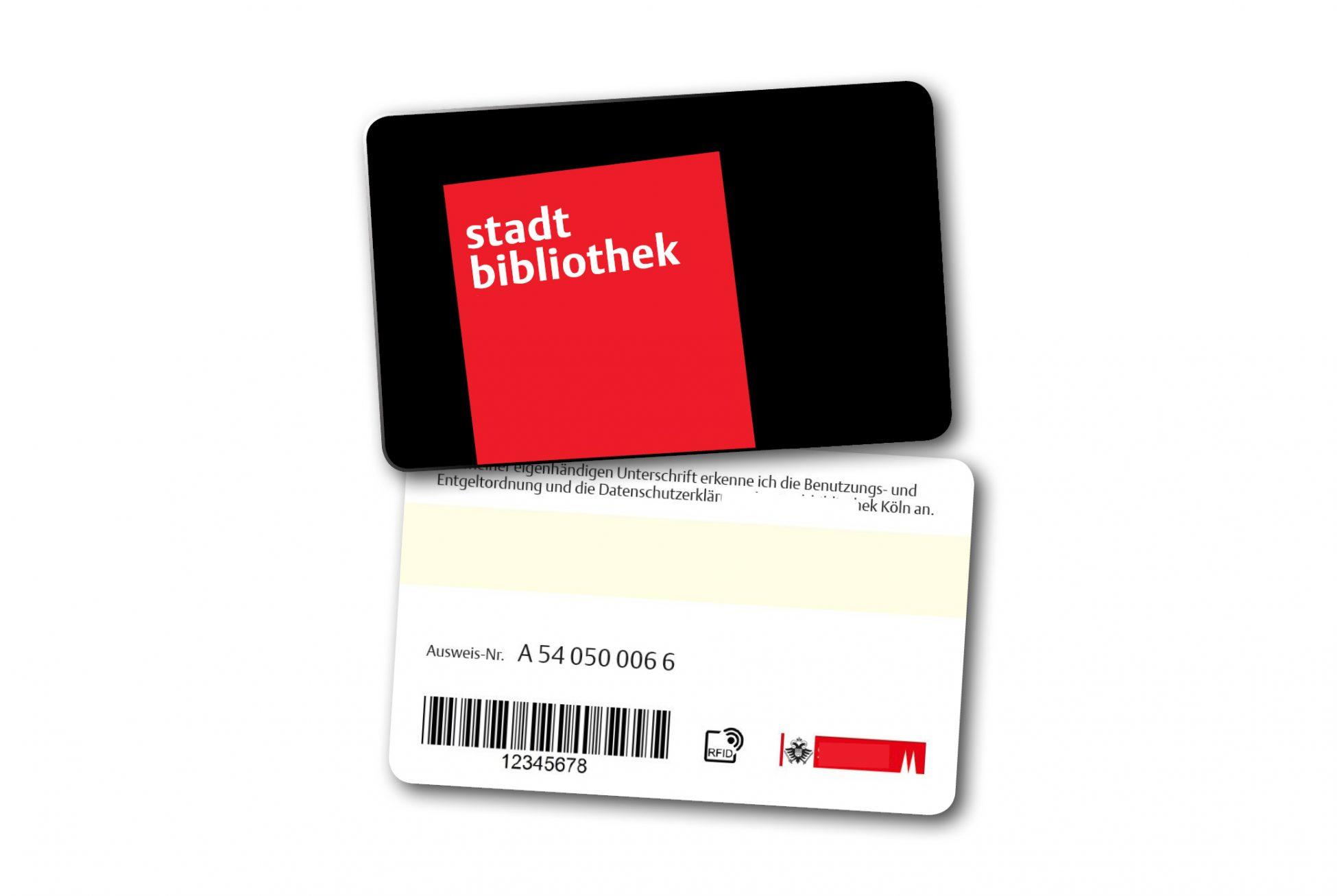 RFID-Karten mit Barcodefür Bibliotheken