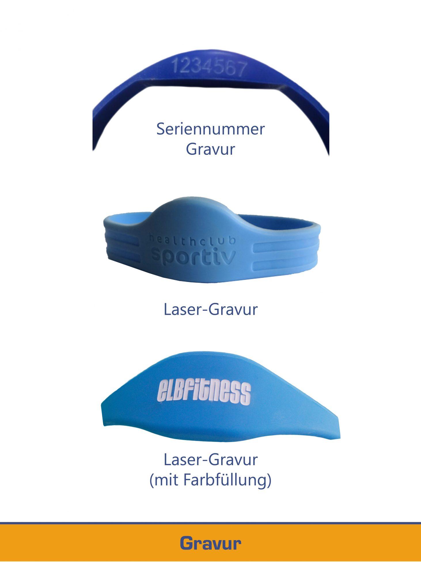 Personalisierung von Armbändern mit Laser-Gravur