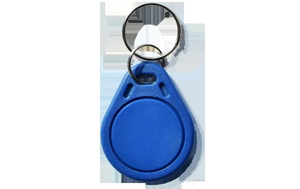 RFID Schlüsselanhänger Zutrittskontrolle blau