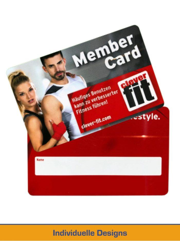 Fitness Mitgliedskarte Individuelles Design Logodruck