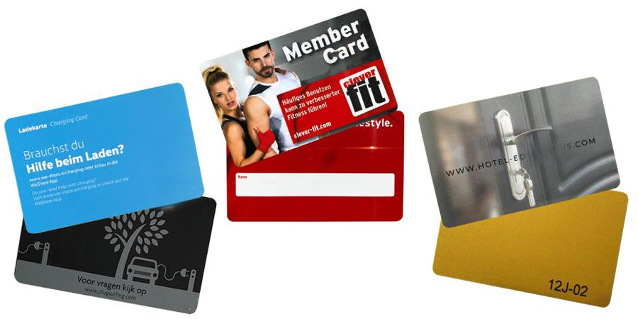 Auswahl an Smartcards für verschiedene Anwendungen