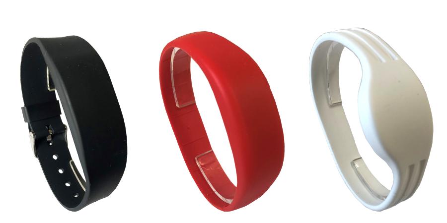 Auswahl an RFID Armbändern