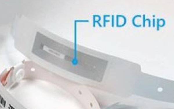 RFID Armband aus Thermopapier mit Chipstreifen
