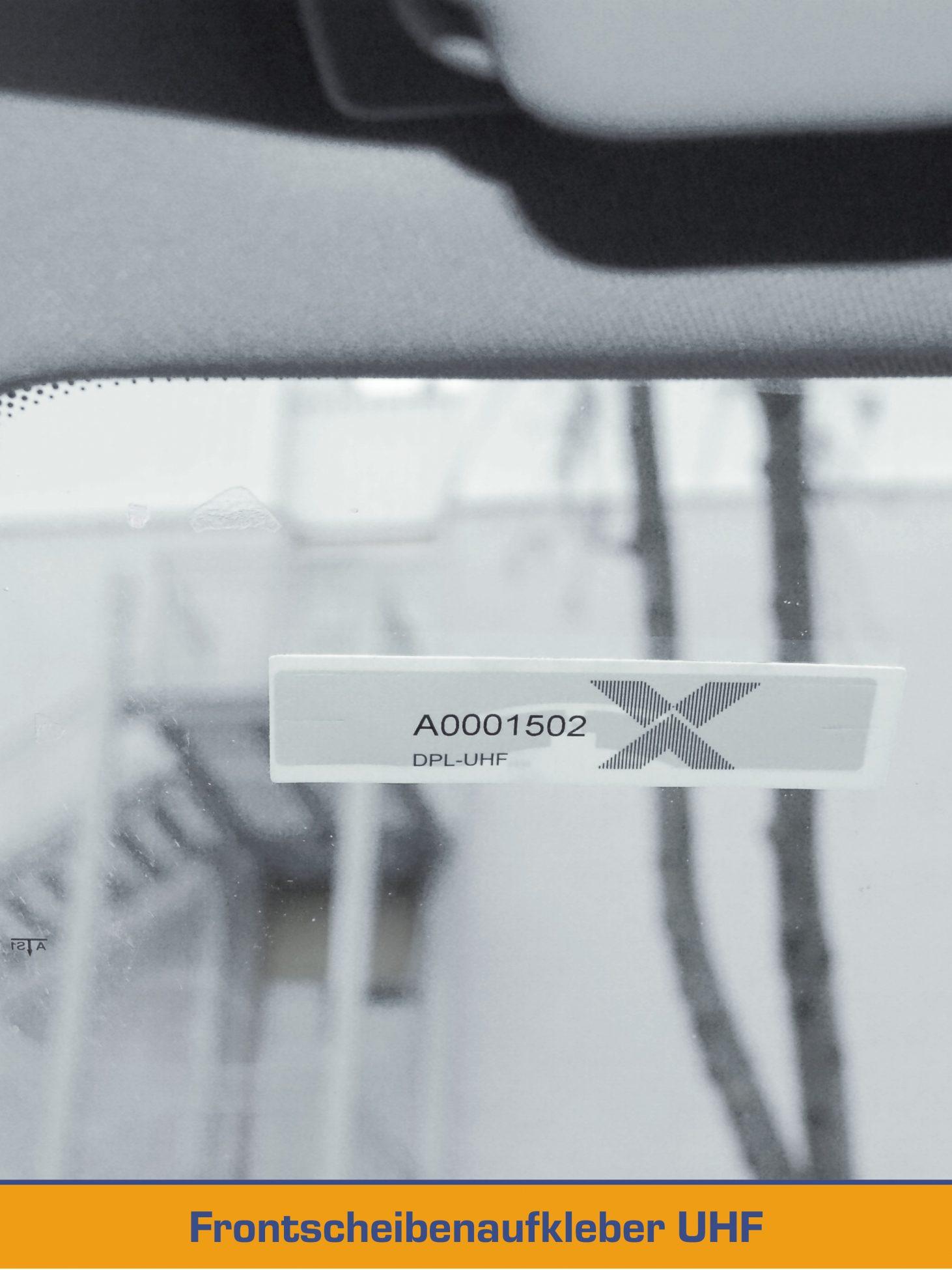 RFID Frontscheifenaufkleber UHF für Fahrzeuge