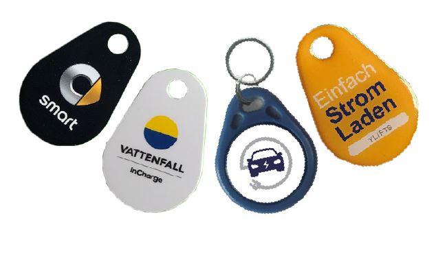 RFID Keyfobs / Schlüsselanhänger für Ladesäulen